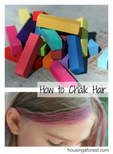 How to chalk Hair
