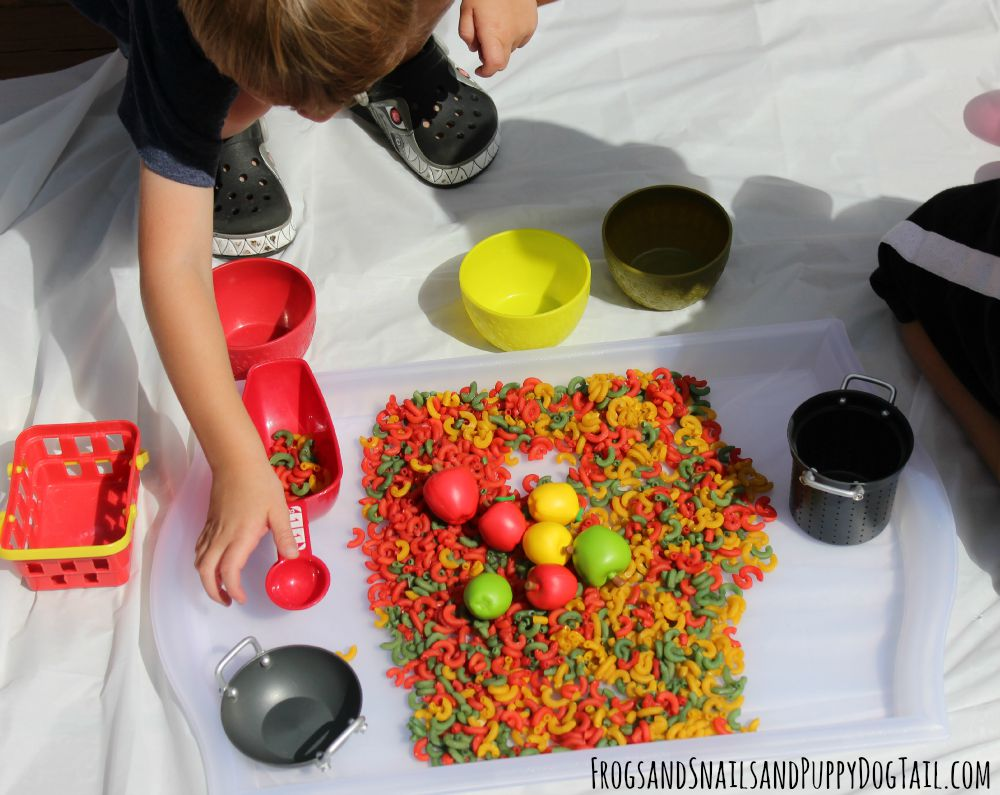fall sensory play idea
