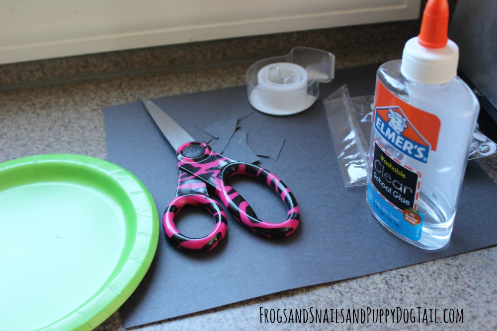 how to make a Frankenstein paper plate craft