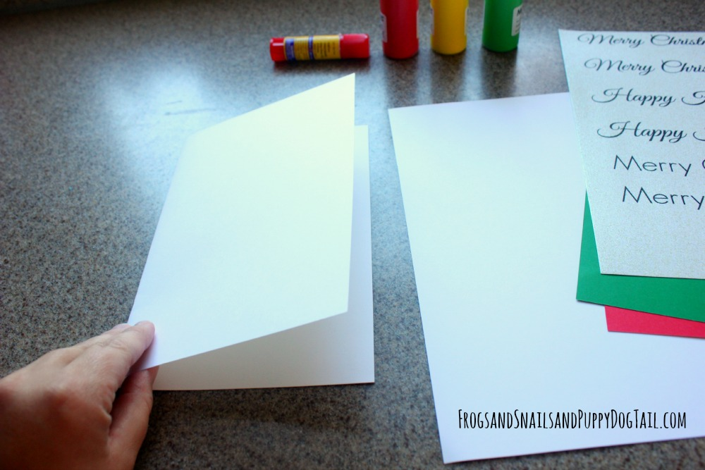 DIY Chrismtas crad craft to make with the kids