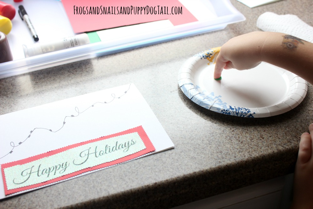 fingerprint art christmas cards