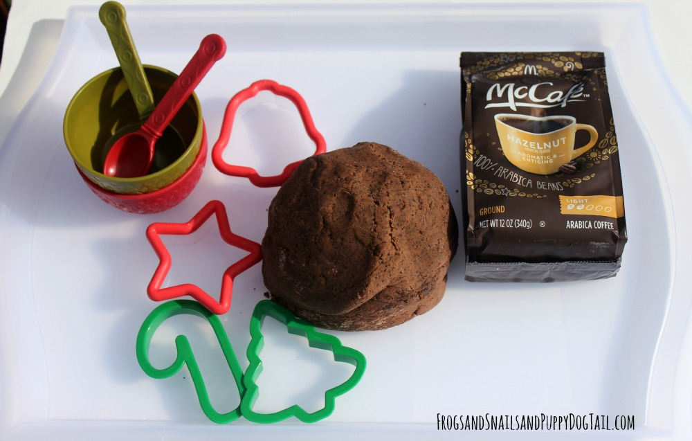 hazelnut coffee playdough recipe