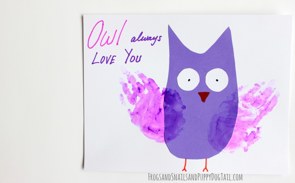 owl always love you handprint art