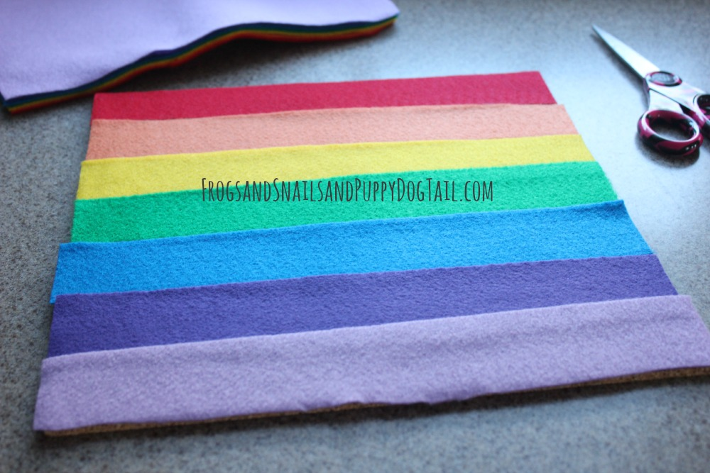 rainbow busy bag