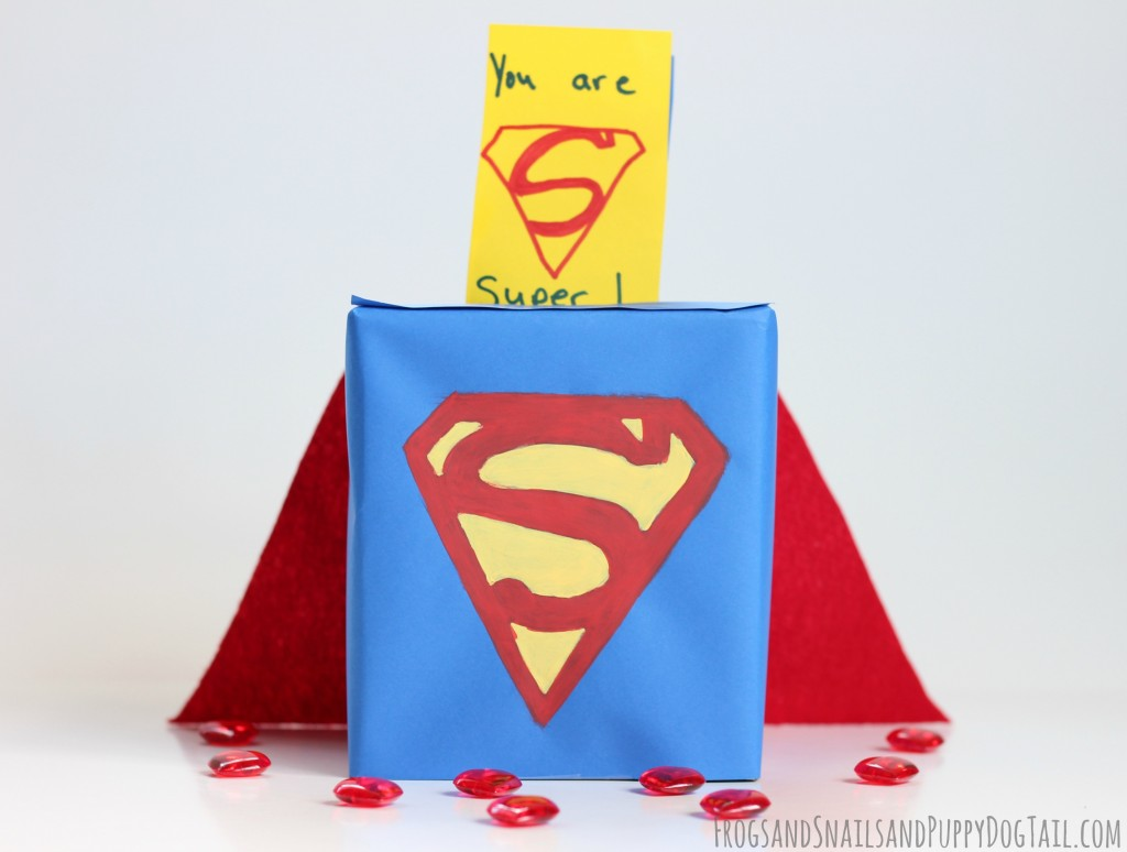 superman Valentine Day Card Box