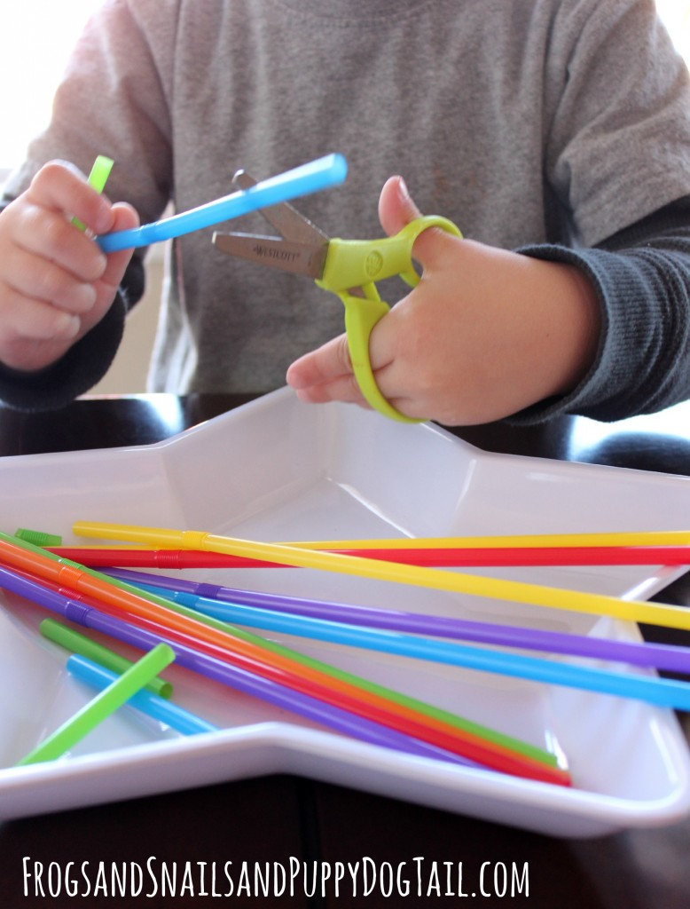 rainbow straws for scissor practice