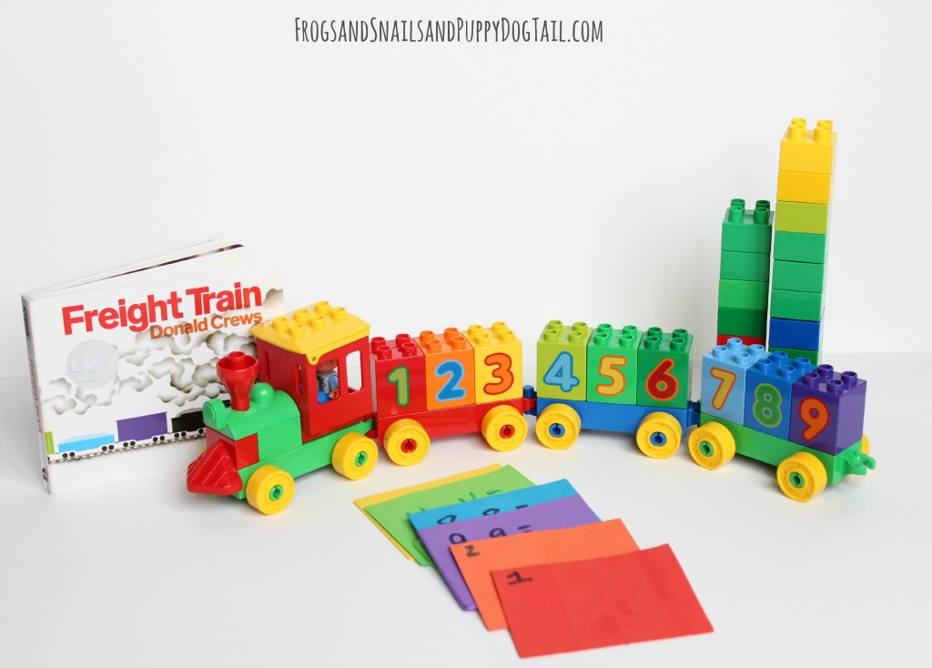 Freight Train Inspired Math Game