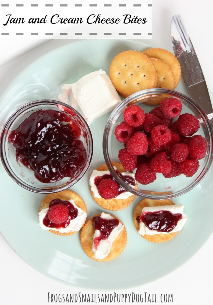 Jame and Cream Cheese Bites a fun snack for the kids