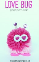 Love Bug Pom Pom Craft for Kids