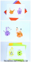 monster handprint art for kids