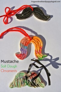 Mustache Salt Dough Ornaments by FSPDT