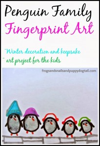 Penguin Family Fingerprint Art by FSPDT