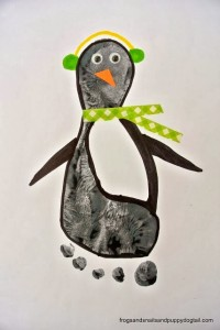 Penguin Footprint Art by FSPDT