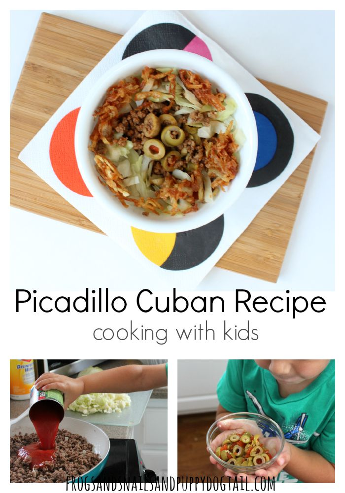 Picadillo Cuban Recipe cooking with kids