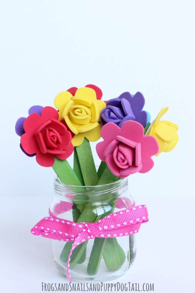 Popsicle Stick Flower Craft