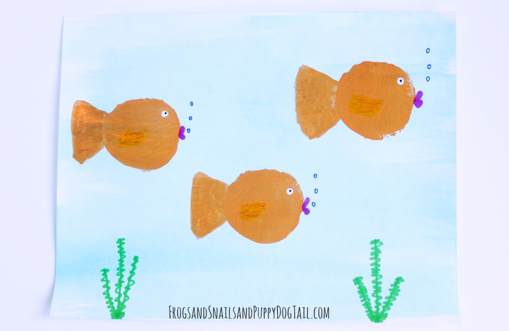 Potato Print Fish Craft