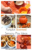 Pumpkin Scented Sensory Play Ideas