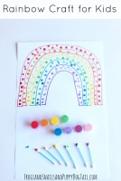 Q-Tip Rainbow Craft for Kids