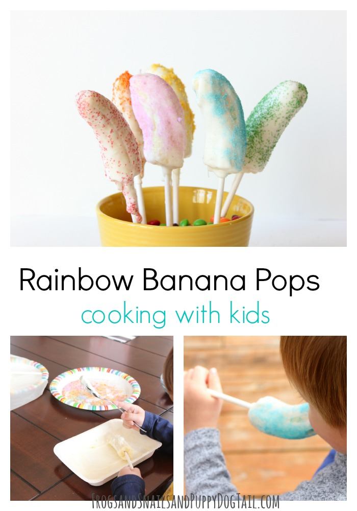 Rainbow Banana Pops Cooking with Kids