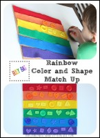 Rainbow Color and Shape Match Up Busy Bag