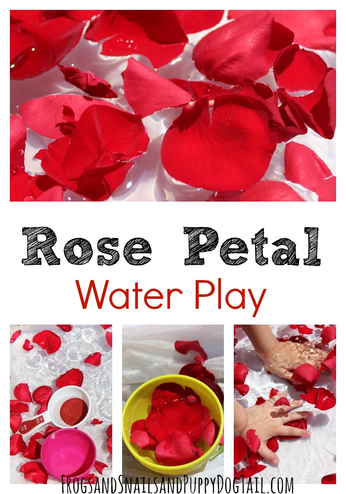 Rose Scented Water Bin for Kids