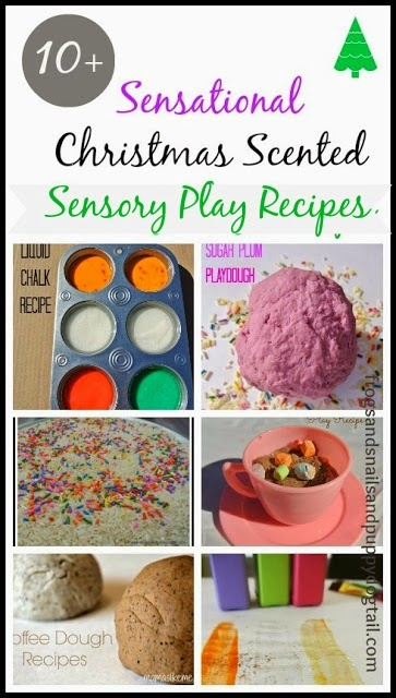 10+ Sensational Christmas Scented Sensory Play Recipes by FSPDT
