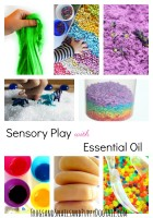 Sensory Play with Essential Oil
