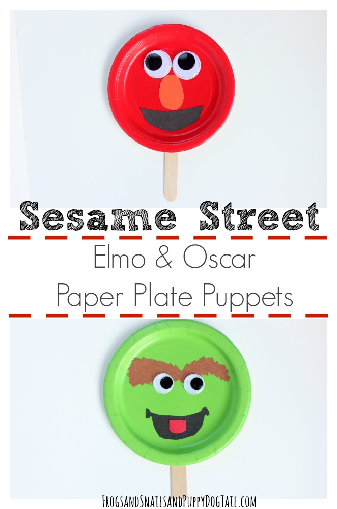 Sesame Street Elmo and Oscar Puppet Craft