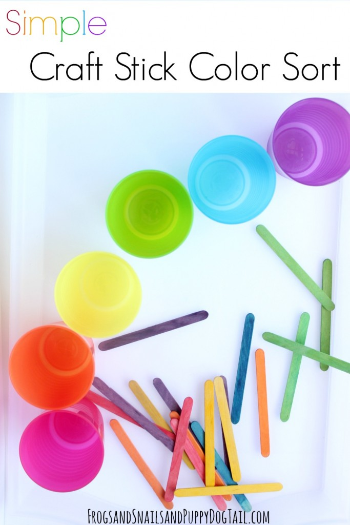 simple DIY craft stick color sort activity idea for kids