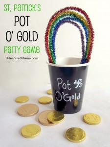 St. Patrick's Day Kids Party Game at B-InspiredMama.com