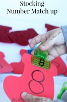 Stocking Number Match Up Activity Idea for Kids