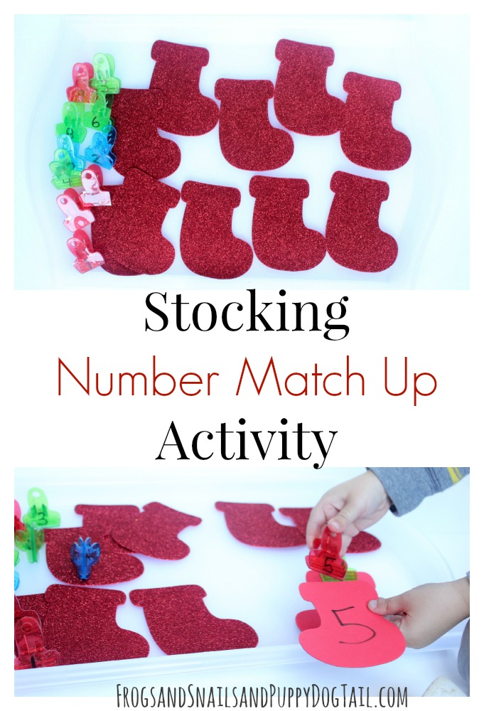 Stocking Number Match Up and Fine Motor Skills for Kids