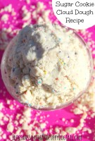 Sugar Cookie Cloud Dough Play Recipe for Sensory Play