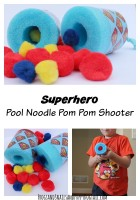 Superhero Pool Noodle Pom Pom Shooter