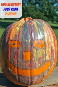 Tape Resistant Pour Paint Pumpkin Decorating