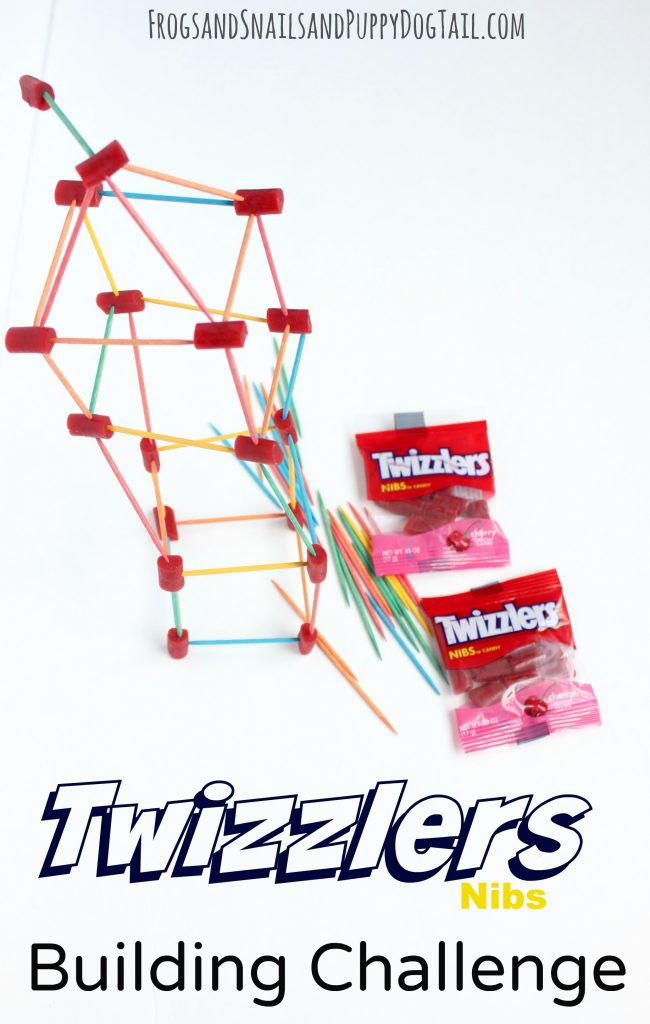 Twizzlers Nibs Building Challenge. Fun STEM game for kids.