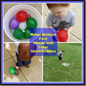 Water Balloon Shapes collage 2
