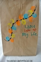 You light up my life Fingerprint craft Christmas gift bag