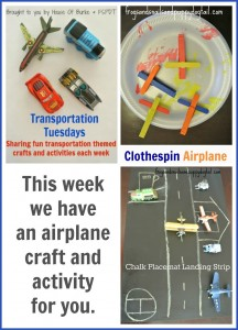 Transportation Tuesday- Airplane Craft and Activity