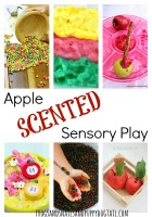 Apple Scented Sensory Play Ideas for Kids
