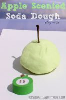 apple scented soda dough sensory play recipe