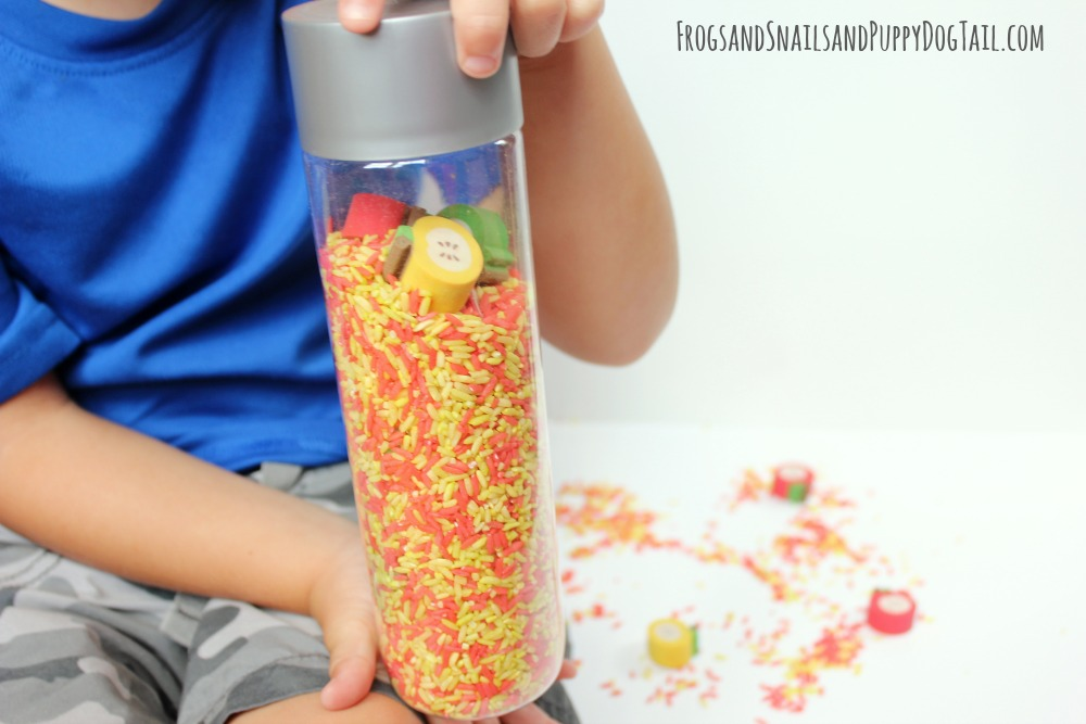 apple sensory bottle