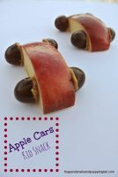 apple cars kid snack idea
