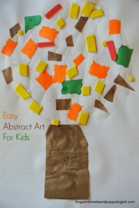 Fall Tree- abstract art for kids by FSPDT