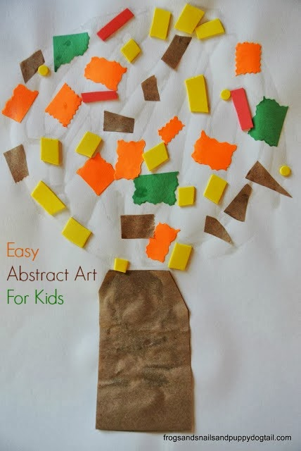 Fall tree abstract art for kids fspdt for Fall arts and crafts for preschoolers