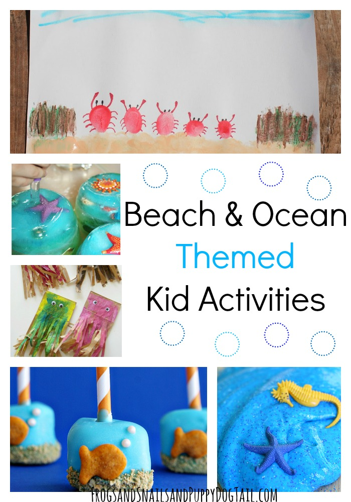 beach and ocean themed activities and more for kids