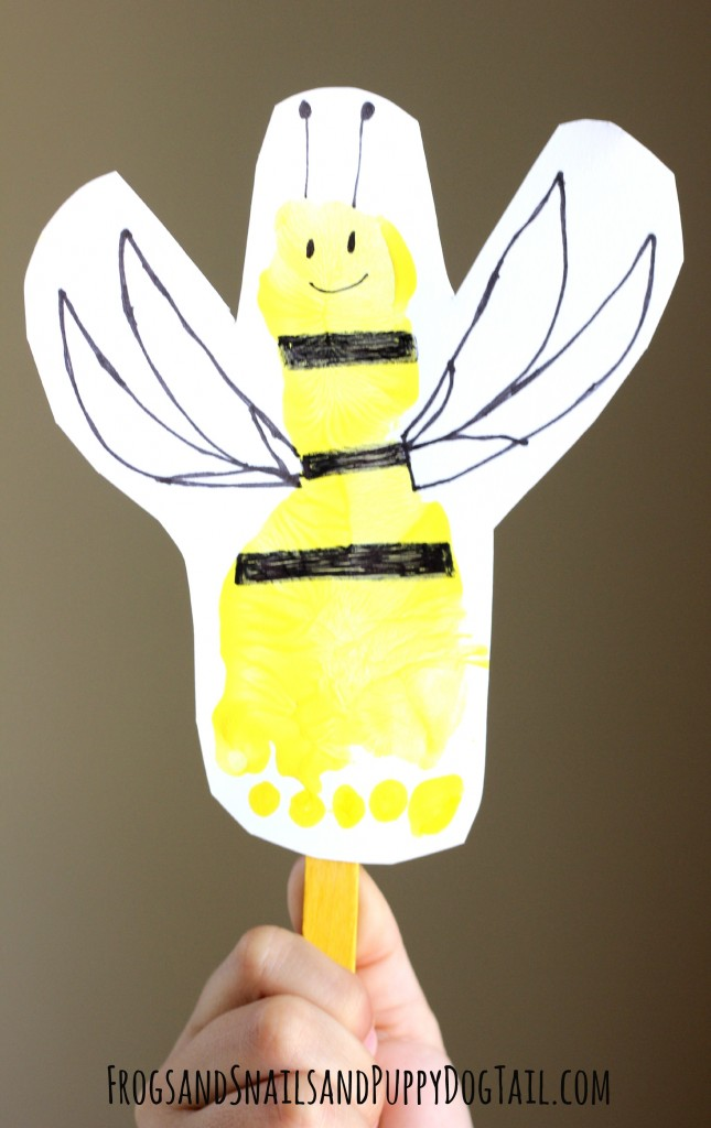 Bee Footprint Puppet for kids