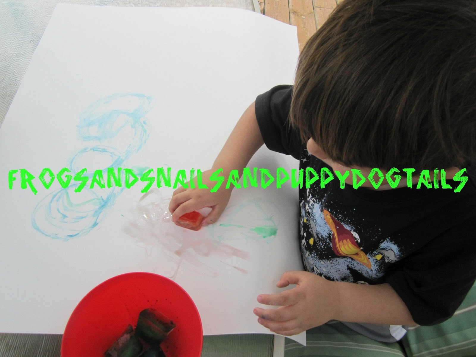 Ice cube painting great activity for toddlers and preschoolers FSPDT