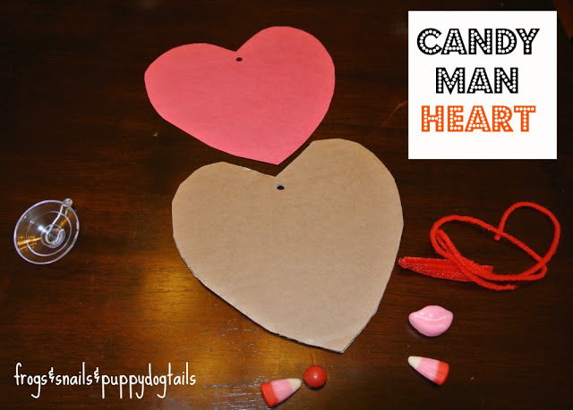 Candy Man Heart- valentine's day craft and The Kid's Co-op