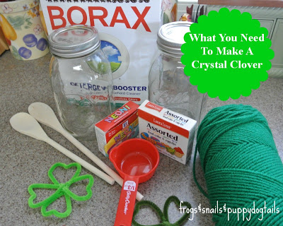Crystal Clover a Science Experiment both toddler and preschooler can enjoy